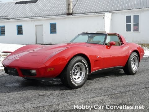 1979 Red Corvette Tan Int 4spd Numbers Matching Video