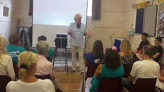Kit Williams at the Official Opening of Taunton Literary Festival