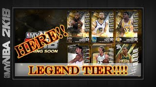 MyNBA2k18 | LEGEND TIER NOW AVAILABLE | New Packs & Cards | Michael Jordan Kobe Bryant |