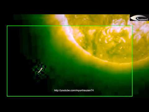"""Giant UFOs – """"RODs"""", cubes, laser shots and other anomalies in the solar space – January 16, 2014"""
