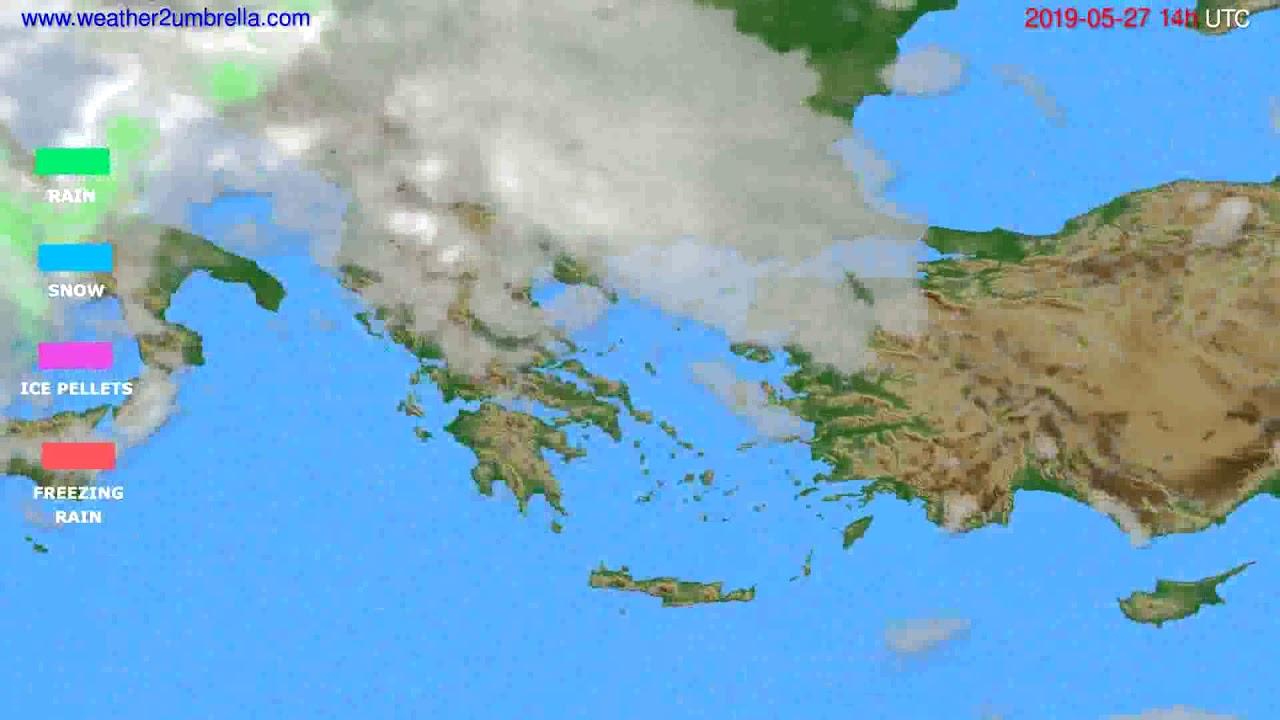 Precipitation forecast Greece // modelrun: 00h UTC 2019-05-25