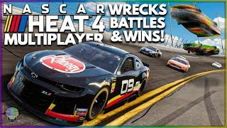 Huge Wrecks, Battles, and Wins! | NASCAR Heat 4 Multiplayer