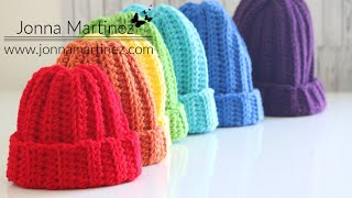 Easiest Worsted Crochet Hat | Easy Ribbed Hat | Beginner Friendly | Right Handed | Unisex Hat
