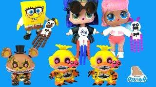 #ФНАФ! Мультик Куклы Лол #Превращение в Аниматроников FNAF Видео для детей! Игрушки с  My Toys Potap