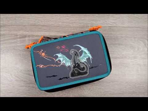 Step by Step XXL Schüleretui Fire Dragon gefüllt und mit Flash Effekt auf Knopfdruck 139263