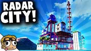 RADAR STATION CITY RAFT COMPLETE! | Raft Creative Mode Early Access Gameplay