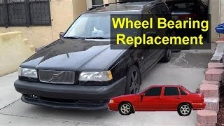 Front Wheel Bearing Hub Replacement, Volvo 850, S70, V70   VOTD