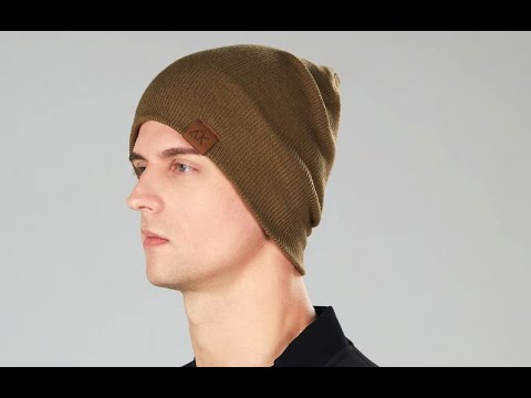 Осенняя легкая однотонная вязаная шапка унисекс с этикеткой из искусственной кожи