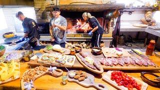 Insane Food in Romania - GIGANTIC MEDIEVAL BBQ + Mangalica Hairy Pig!