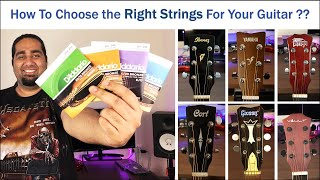 Choosing Right Strings for your acoustic guitar | Best Strings For Acoustic Guitar