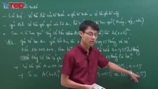 Vted.vn - Phương pháp giải một số dạng bài toán thực tế phần II