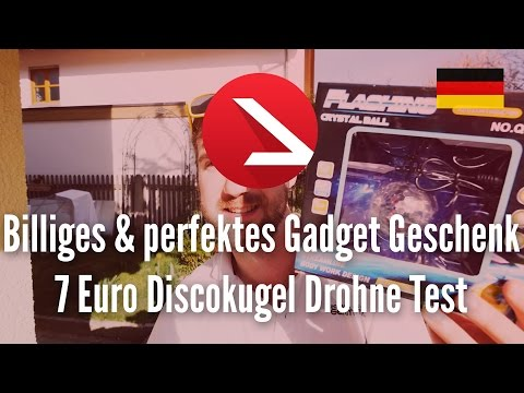 Billiges & perfektes Gadget Geschenk!   7 Euro Discokugel Drohne Test