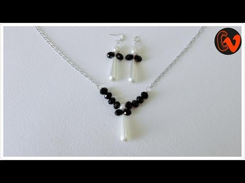 How to make a Beaded Necklace / Beaded Jewelry / Tutorial 3