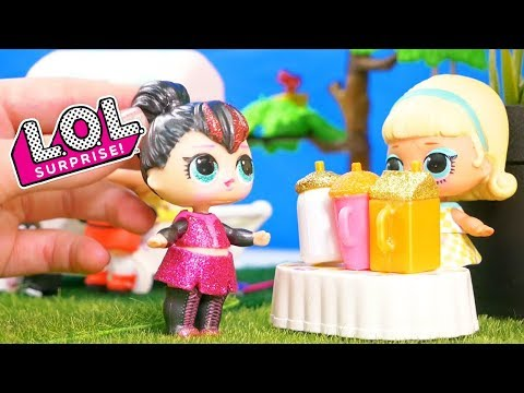 LOL Surprise Dolls Ice Cream, Lemonade and Pastry Stands with Unboxings