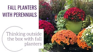Fall Planters With Perennials
