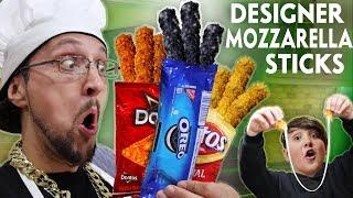 OREO MOZZARELLA STICKS!!  Designer DIY Gourmet Food!