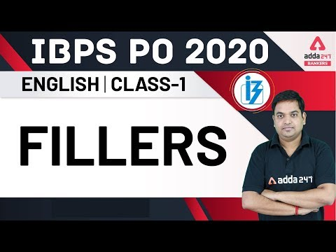 IBPS PO 2020 | Fillers (Class-1) | English for IBPS PO Preparation ...