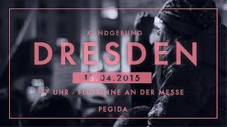 preview picture of video 'PEGIDA Kundgebung mit Geert Wilders und Götz Kubitschek in Dresden'