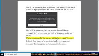 Fix Error Code 264 in Roblox