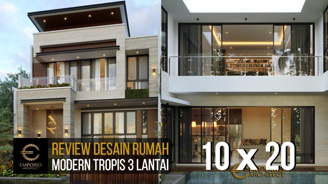 Video 3D Mrs. Yasmin Modern House 3 Floors Design - Bogor, Jawa Barat
