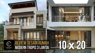 Video Desain Rumah Modern 3 Lantai Ibu Yasmin di  Bogor, Jawa Barat