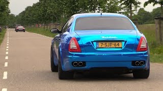 Maserati Quattroporte 4.2 V8 with Straight Pipes - LOUDEST EVER!