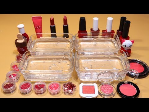 *RED Collection* # Mixing Lip section,glitter Section and Nail section, Shadow Section into Slime