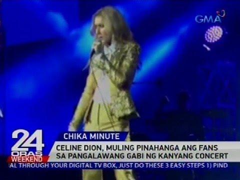 [GMA]  Celine Dion, muling pinahanga ang fans sa pangalawang gabi ng kanyang concert
