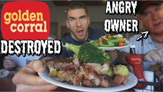 PRO EATER VS GOLDEN CORRAL BUFFET| COUNTLESS PLATES | ANGRY OWNER? | Man Vs Food