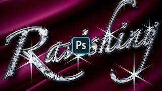 【Photoshop講座】フォントでつくる!キラキラ輝く金属文字