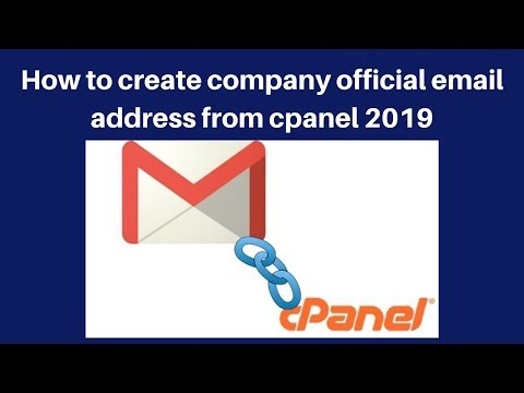 How to create company official email address from cpanel 2019