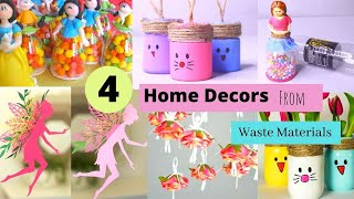 4 DIY Home Decor From Materials / Easy Room Decor Crafts