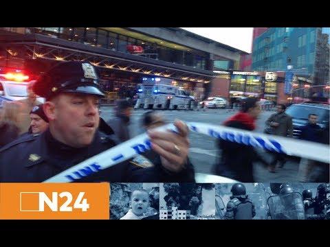 Bombenanschlag nahe Times Square: Polizei nimmt verletzten Tatverdächtigen in New York fest