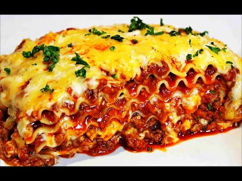 Homemade Lasagna Recipe -- How to make the best Italian Lasagna