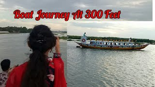 preview picture of video 'Boat Journey At 300 Feet | Purbachal 300 feet river | Dance journey by boat | 300 Feet Eid Festival'