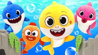 The Shark Family is in danger! Transform into Super Baby Shark Ollie and save Friends!   PinkyPopTOY