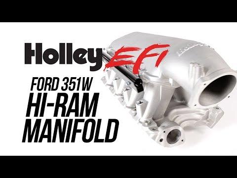 Holley 300-243 Holley 351W Ford Hi-Ram Carbureted Manifold Base