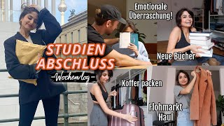 Überraschung zum ABSCHLUSS, Bücher & Flohmarkt Haul, Koffer packen, ...   WOCHENVLOG