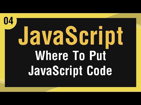 تعلم لغة JavaScript القائمة #1 الفديو #4