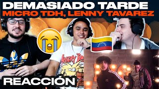 [Reacción] Micro TDH Ft Lenny Tavarez   Demasiado Tarde (Official Video)   ANYMAL LIVE 🔴