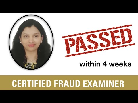 Certified Fraud Examiner (CFE) within 4 Weeks - YouTube