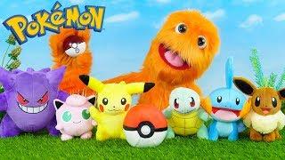 ¡La Marioneta Fuzzy Juega Pokemon Van! ¡Nueva Aventura De Juguetes De Pokemon! ¡Fuzzycontra Pikachu!