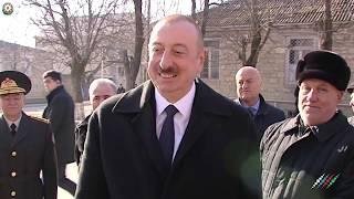Землетрясение в Азербайджане  Ильхам Алиев в зоне бедствия