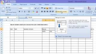 Tutorial Membuat Table Dengan Menggunakan Microsoft Excel