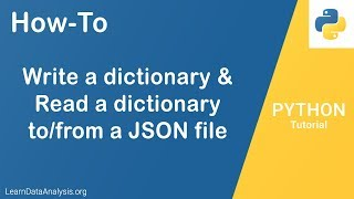 Write and Read Dictionary To JSON file in Python | Python Tutorial