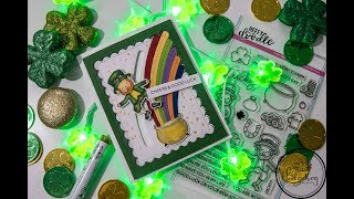 Interactive Heffy Doodle Good Luck or St Patricks Day Cardmaking Tutorial