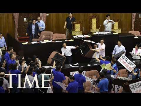 Another Brawl Broke Out In Taiwan's Parliament, Fights Between Legislators Are Common | TIME