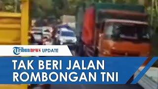 Viral Video Sopir Truk di Lumajang Tak Mau Beri Jalan untuk Rombongan TNI, Begini Penjelasan Polisi