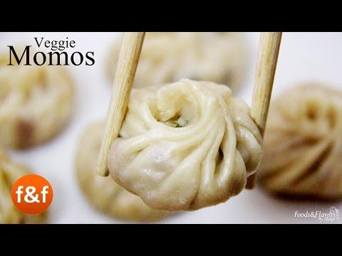 Veg Momos Recipe - Steamed Momos - Vegetable Dimsum | Snacks Recipes | Breakfast Recipes