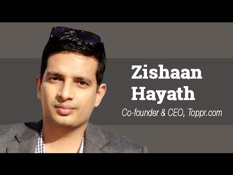 Zishaan Hayath on edtech venture Toppr, startup funding scene in 2016